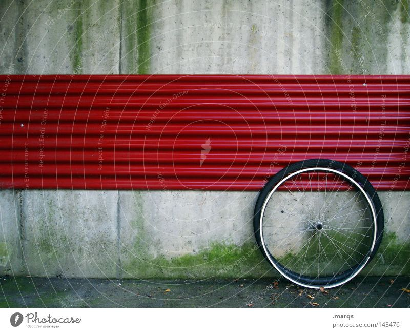 Red Wall (building) Gray Bicycle Broken Leisure and hobbies Coat Repair Aperture Spokes