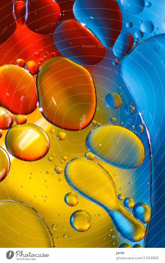 liquid colour #2 Water Swimming & Bathing Exceptional Elegant Fresh Wet Natural Positive Blue Yellow Red Creativity Bubble Colour Circle Colour photo