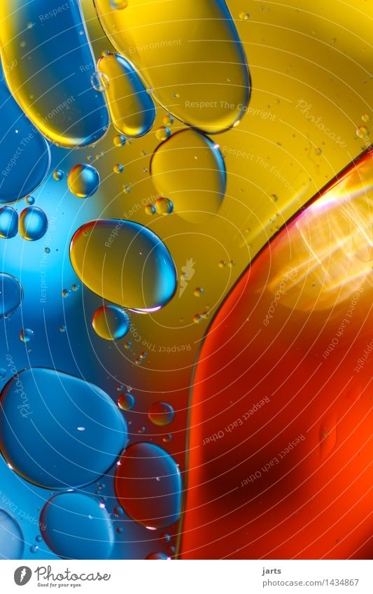 liquid colour #4 Cooking oil Water Swimming & Bathing Exceptional Elegant Fresh Bright Wet Round Blue Yellow Red Creativity Bubble Water blister Multicoloured