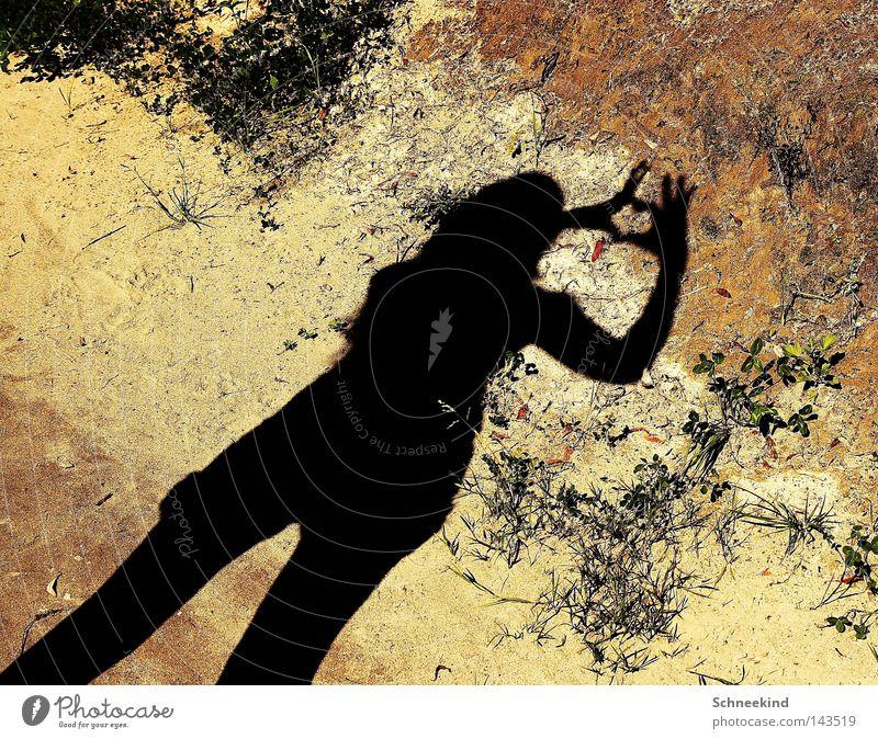 HEART dearest Shadow Summer Sand Heart Woman Love Beautiful Shadow play Heart-shaped Contour Silhouette Infatuation Affection Earth Ground Sunlight Gesture