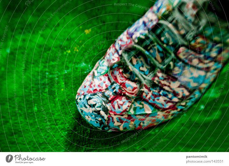 Artshoe Joy Colour Dye Footwear Funny Decoration Painting (action, work) Canvas