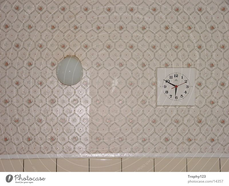 kitchen Kitchen Clock Lamp Photographic technology Old