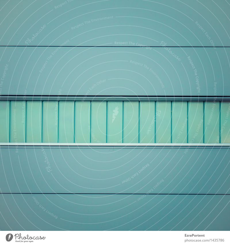 Blue House (Residential Structure) Window Cold Wall (building) Architecture Building Wall (barrier) Line Facade Metal Design Glass Esthetic Illustration Stripe