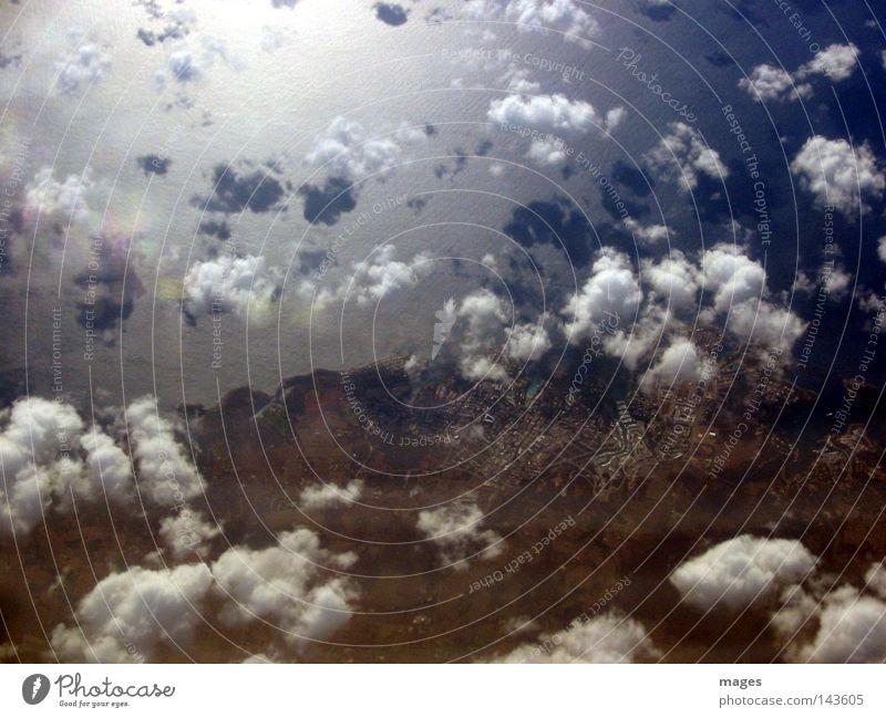 Water Sky Beach Clouds Coast Large Island Americas Mediterranean sea Cloud shadow