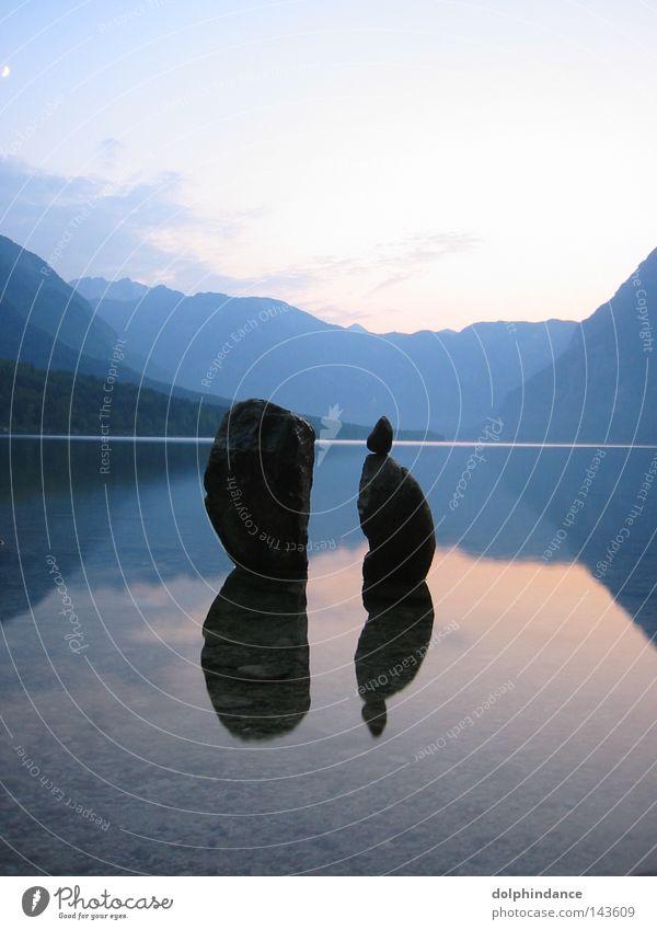Evening at Lake Bohin Slovakia Slovenia Calm Meditation Water Sky bohin bohinjsko jezero bohiner