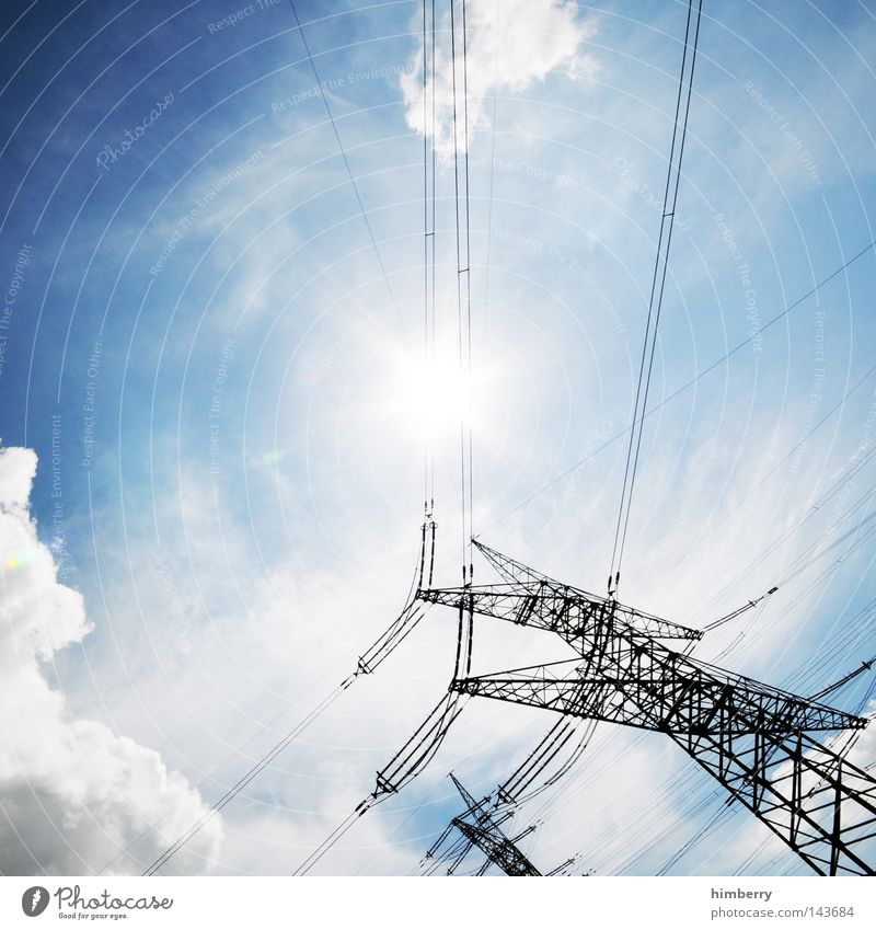 Sun Power Energy Force Industry Energy industry Electricity Technology Net Contact Science & Research Solar Power Testing & Control Industrial plant Electricity generating station High voltage power line