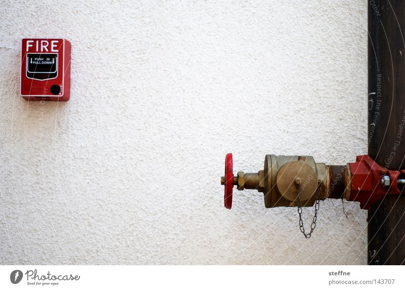 Water White Red Blaze Fire Dangerous Threat Iron-pipe Burn Rescue Fireman Fire department Fire engine Alarm Erase Ignite