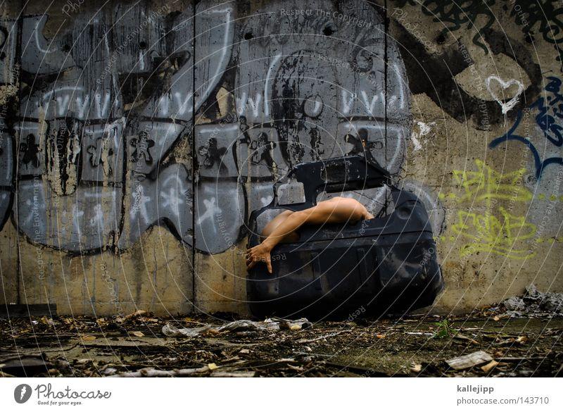 Human being Man Black Colour Wall (building) Graffiti Gray Dye Metal Car Art Door Dirty Heart Skin Concrete
