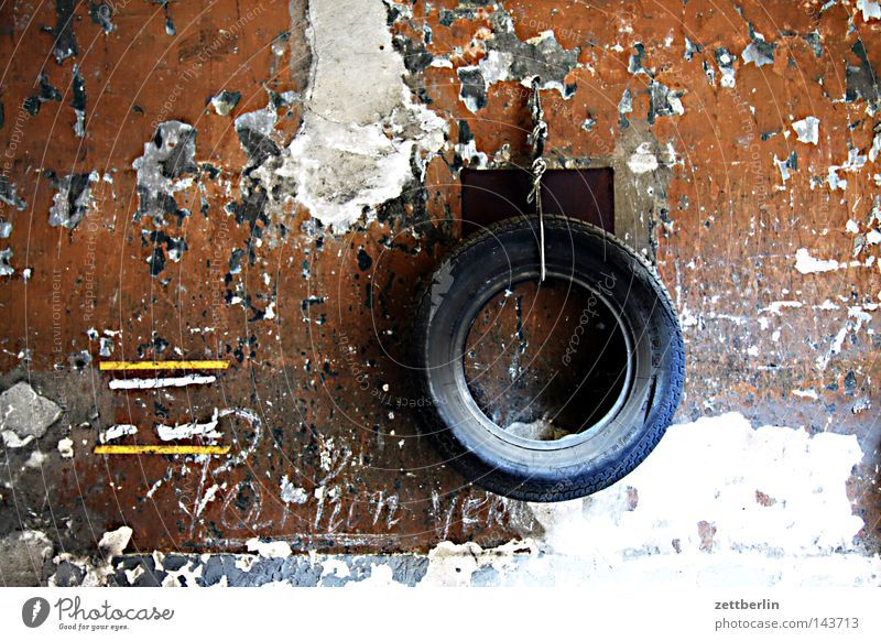 horse halter Wheel Tire Old Wall (building) Garage Services Craft (trade) Derelict winter tyres summer tyre keywording difficulties