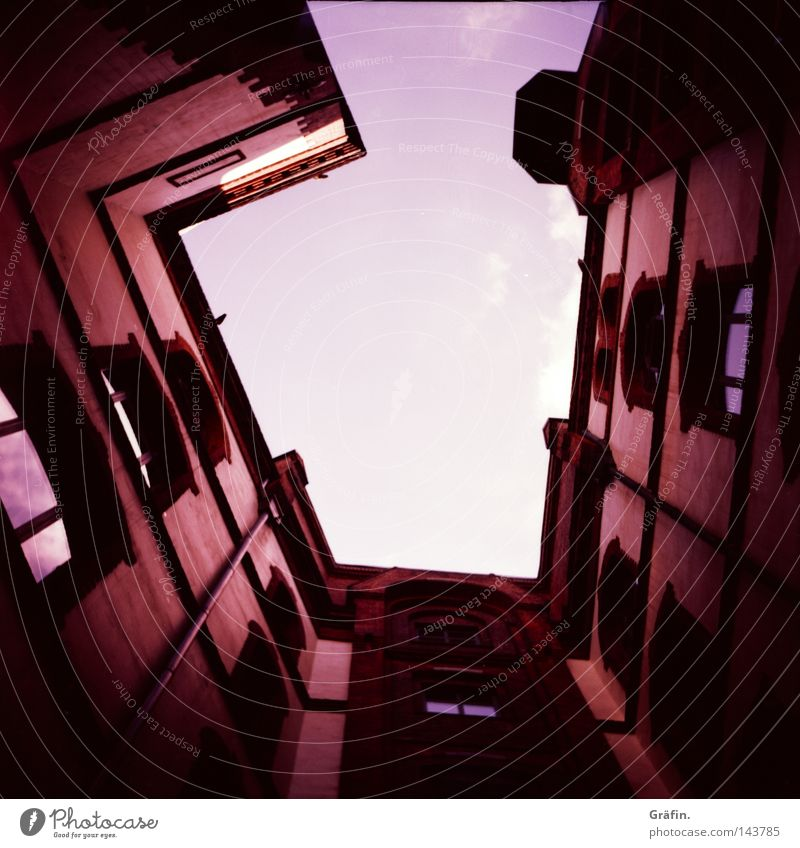 Sky Old Summer Clouds House (Residential Structure) Dark Wall (building) Window Architecture Warmth Tall Physics Brick Historic Claustrophobia