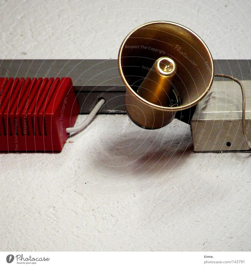 Red Glittering Gold Electricity Technology Round Cable Loudspeaker Megaphone Useful Installations Electrical equipment Wired Fire prevention Distributor
