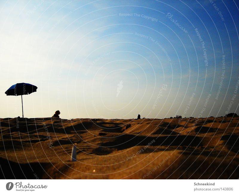 Sky Sun Ocean Blue Summer Joy Beach Vacation & Travel Clouds Relaxation Sand Break Vantage point Italy Umbrella Hill
