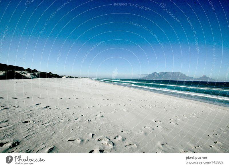 Cape Town Beach Sand Blue Africa South Africa Sky Mountain