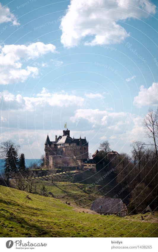 Berlepsch Castle Vacation & Travel Tourism Trip Event Museum Sky Clouds Beautiful weather Meadow Hill Germany Esthetic Famousness Historic Safety Romance Idyll