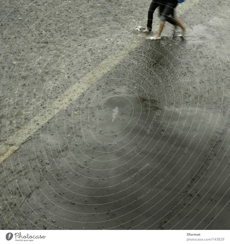 Woman Human being Man City Street Movement Lanes & trails Line Couple Feet Rain 2 Weather Contentment Footwear Together