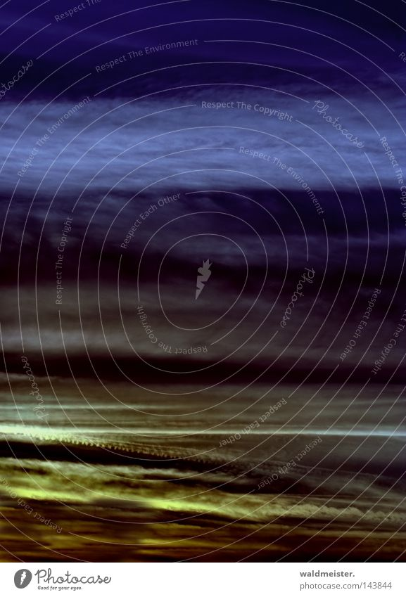 Sky & Clouds II Air Abstract Vapor trail Weather Meteorology Meteorological service Evening Painting and drawing (object) Background picture Record cover Moody