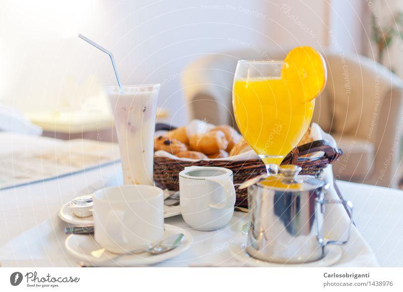 Orange Glass Coffee Hotel Breakfast Plate Juicy Milk Juice Horizontal Mug Dairy Products Resort