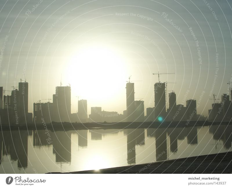 Water Sun Architecture High-rise Crane Dubai Near and Middle East