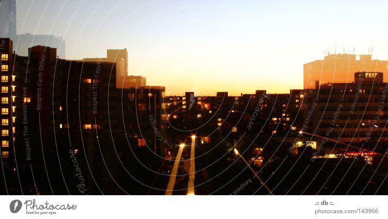 .:: THE BLOCK ::. Town Night Ghetto Light Hamburg Steilshoop flash home Evening Sky