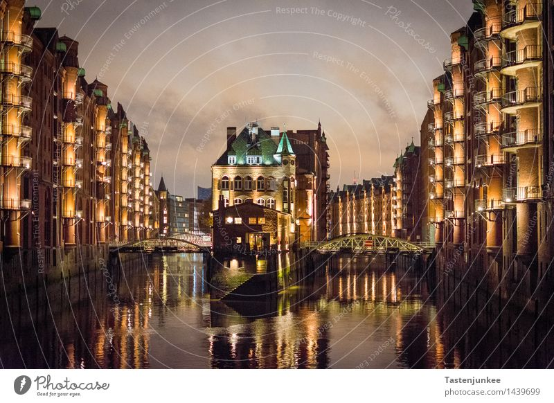 Moated Castle @ Hamburg Speicherstadt Germany Europe Town Port City Downtown Deserted House (Residential Structure) Factory Harbour Bridge Manmade structures