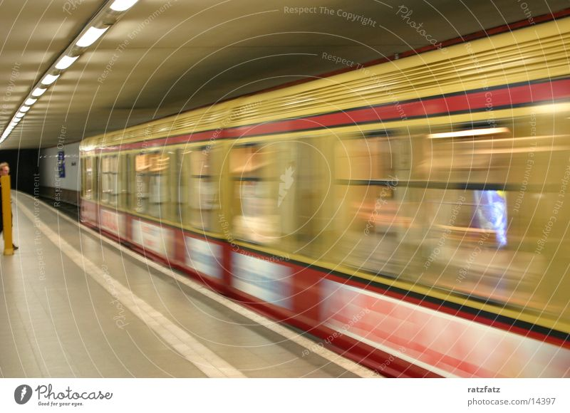 The train is coming Transport Berlin Railroad Speed