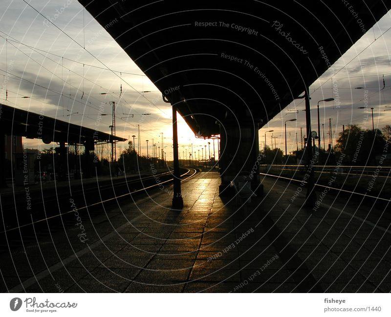 Track 3 Railroad tracks Platform Sun