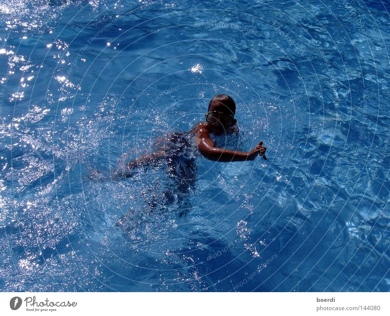 sWimchild Human being Youth (Young adults) Blue Water Vacation & Travel Summer Joy Loneliness Sports Emotions Freedom Bright Healthy Leisure and hobbies