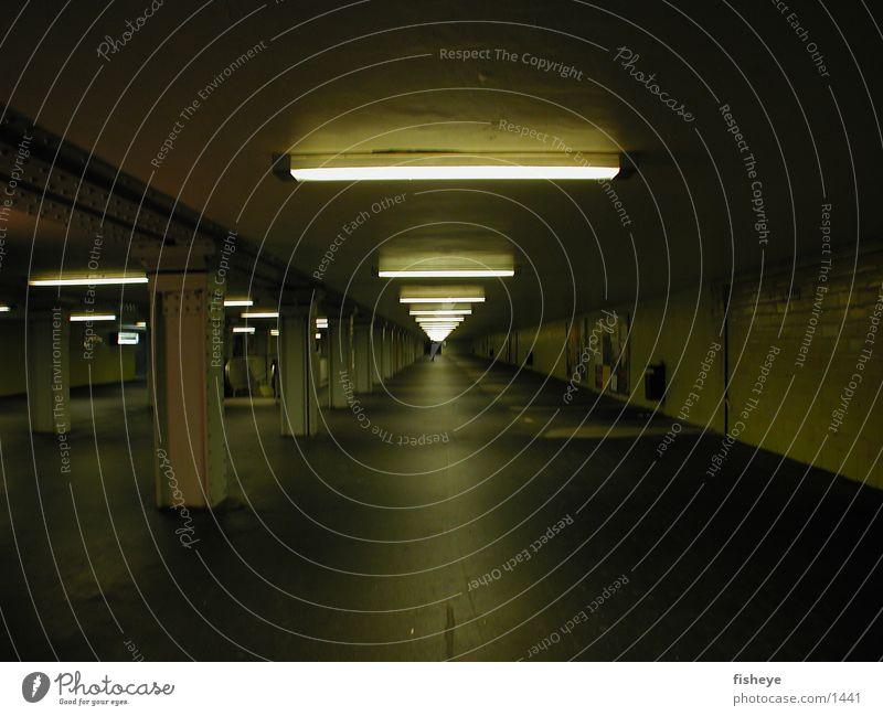 Club Tunnel Underground Train station Neon light