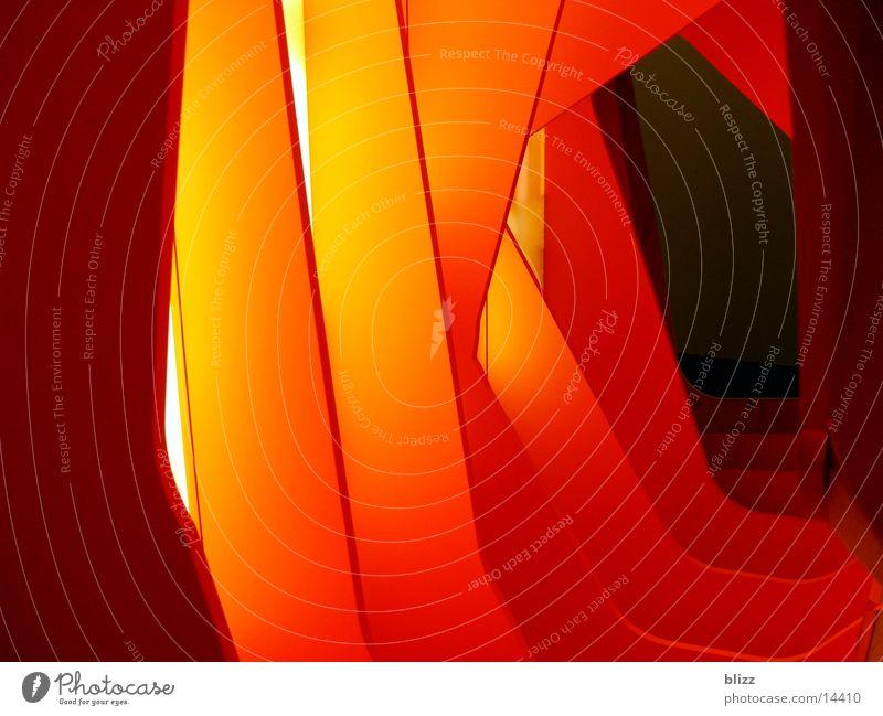 Room Orange Architecture Transparent Seventies Exhibition Dim