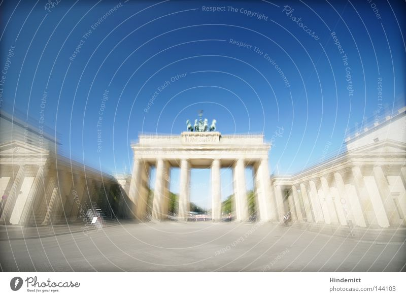 The gate to B. Berlin Capital city Brandenburg Gate Landmark Quadriga Horse Antiquity Goddess Horse and cart Nike Carriage Column Tourism Sightseeing