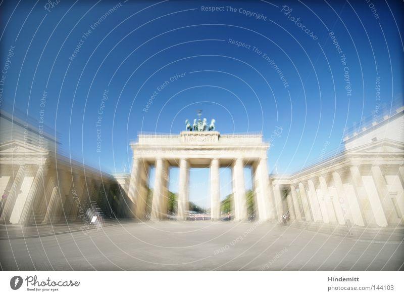 The gate to B. Berlin Capital city Brandenburg Gate Landmark Quadriga Horse Antiquity Goddess Horse and cart Nike Carriage Column Tourism Sightseeing
