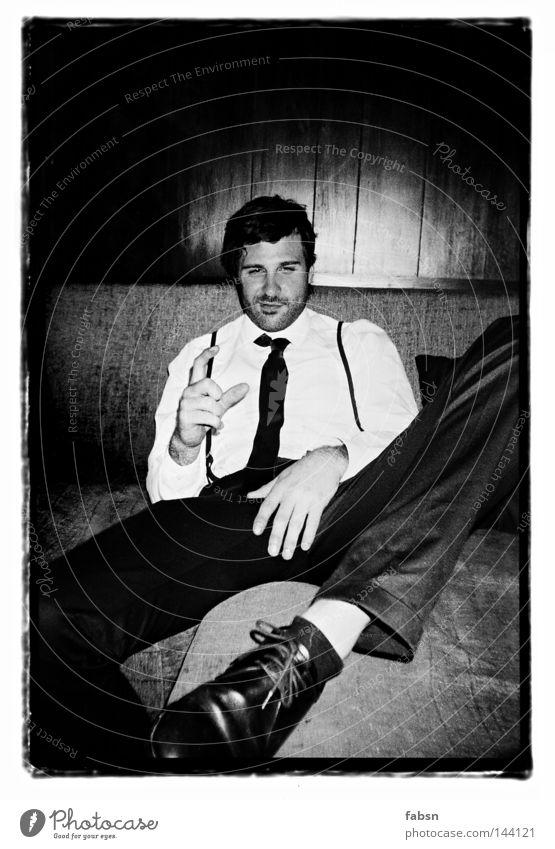 MY PIMP AND I Black & white photo Alcoholic drinks Style Relaxation Sofa Education Man Adults Hand Wood Sign Large Small White Protection Honest Break
