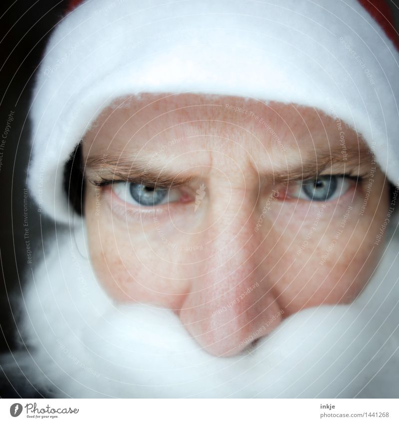 Human being Woman Man Christmas & Advent Face Adults Life Emotions Moody Threat Female senior Male senior Cap Facial hair Facial expression Santa Claus