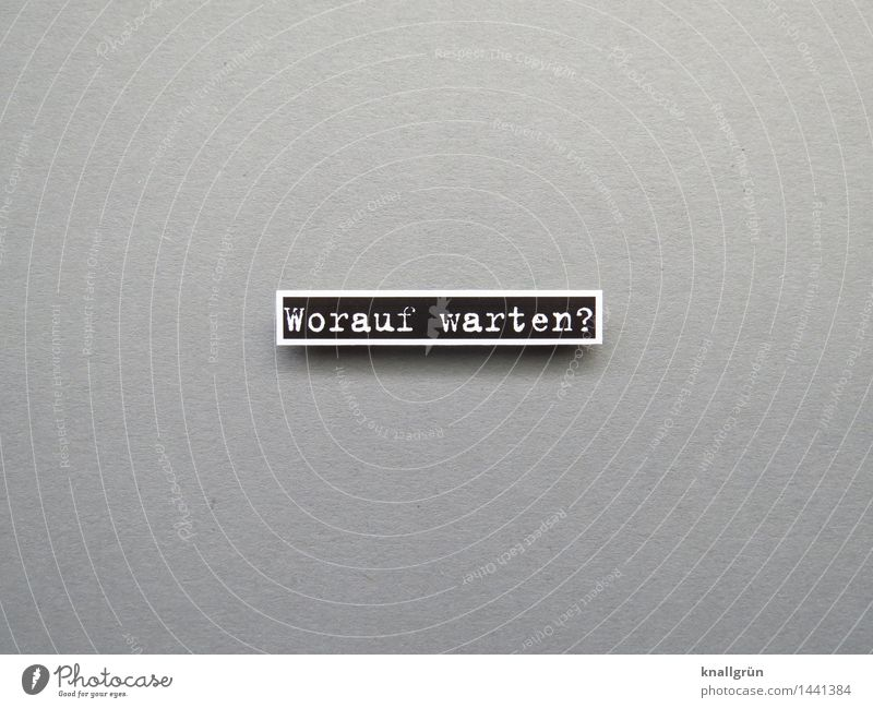 Wait for what? Characters Signs and labeling Communicate Sharp-edged Gray Black White Emotions Moody Contentment Enthusiasm Brave Determination Curiosity