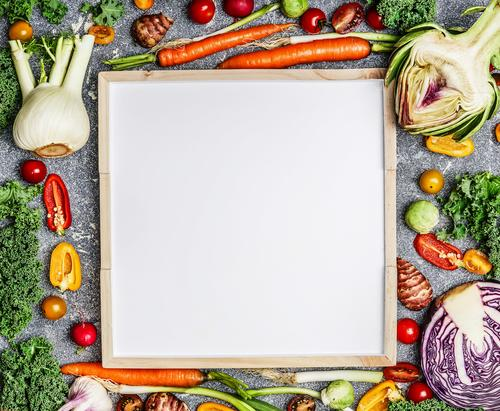 Fresh vegetables around a white table Food Vegetable Lettuce Salad Herbs and spices Nutrition Lunch Dinner Organic produce Vegetarian diet Diet Style Design