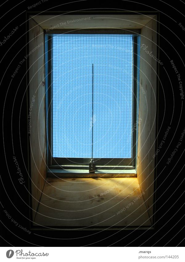 skylight Wood Roof Light Window Vantage point Skylight Living or residing Blue Glass Sun Frame Shadow ...