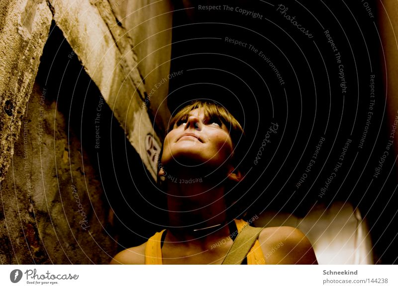 ceiling art Woman Lady Looking Ceiling Italy Venice Chain Neck Necklace Top Carrier Wall (barrier) Lanes & trails Corridor Face Bangs Art Shaft Wall (building)