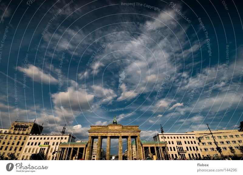 Yes it's Berlin! Town Brandenburg Gate Downtown Pariser Platz Unter den Linden Attraction Tourist Art Landmark Downtown Berlin East Monument Seat of government