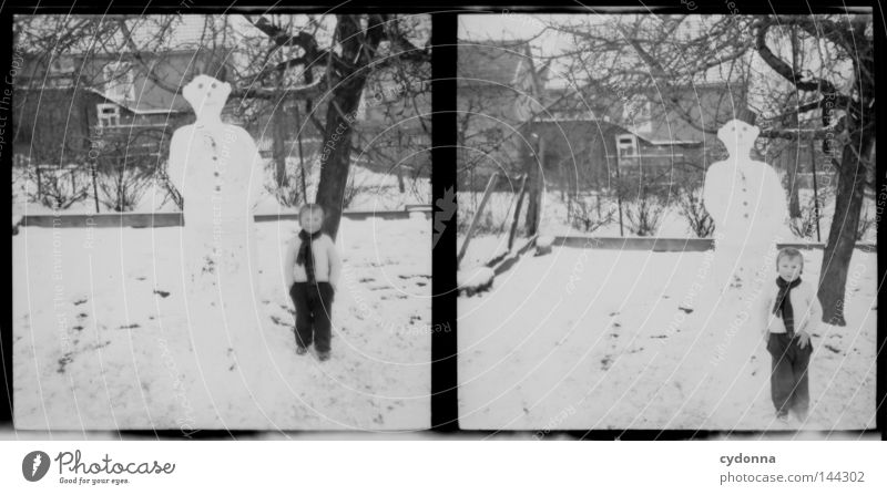 Photo journeys into the past VIII Negative Medium format Historic Ancestors Time Dog Winter Child Past Memory Innocent Find Emotions Photography Attic