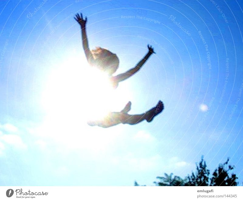 jump3 Sun Trampoline Jump Free Freedom Happiness Joy Happy Light Blue Alcohol-fueled Converse Contrast Pregnant Life Sky Flying Ease To fall