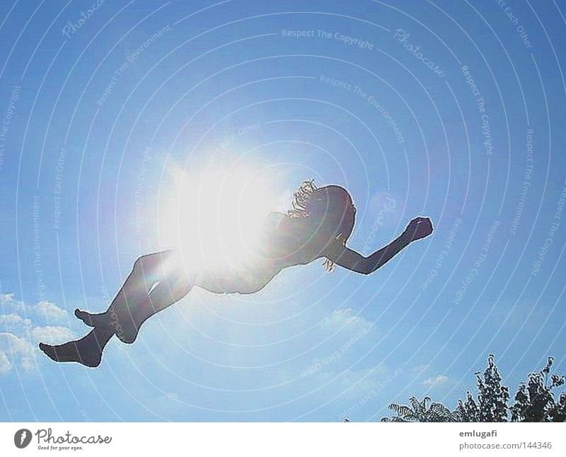 jump4 Sun Trampoline Jump Free Freedom Happiness Joy Happy Light Blue Alcohol-fueled Converse Contrast Pregnant Life Sky Flying Ease To fall Ambush Trap