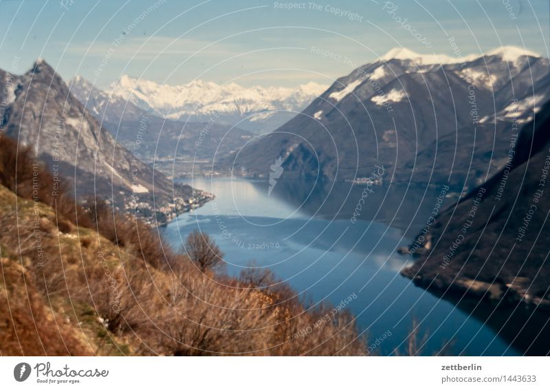 Ticino Lago Maggiore Alps Mountain Europe Rock Vacation & Travel Far-off places Sky High mountain region Climate Landscape Panorama (View) Panorama (Format)