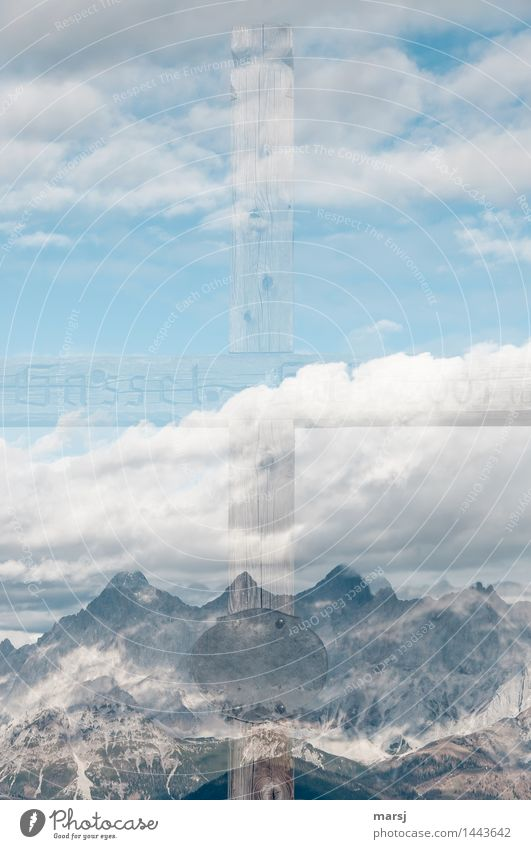 + plus mountains Nature Sky Clouds Autumn Beautiful weather Alps Mountain Dachstein Peak Crucifix Touch Authentic Exceptional Gigantic Bright Emotions