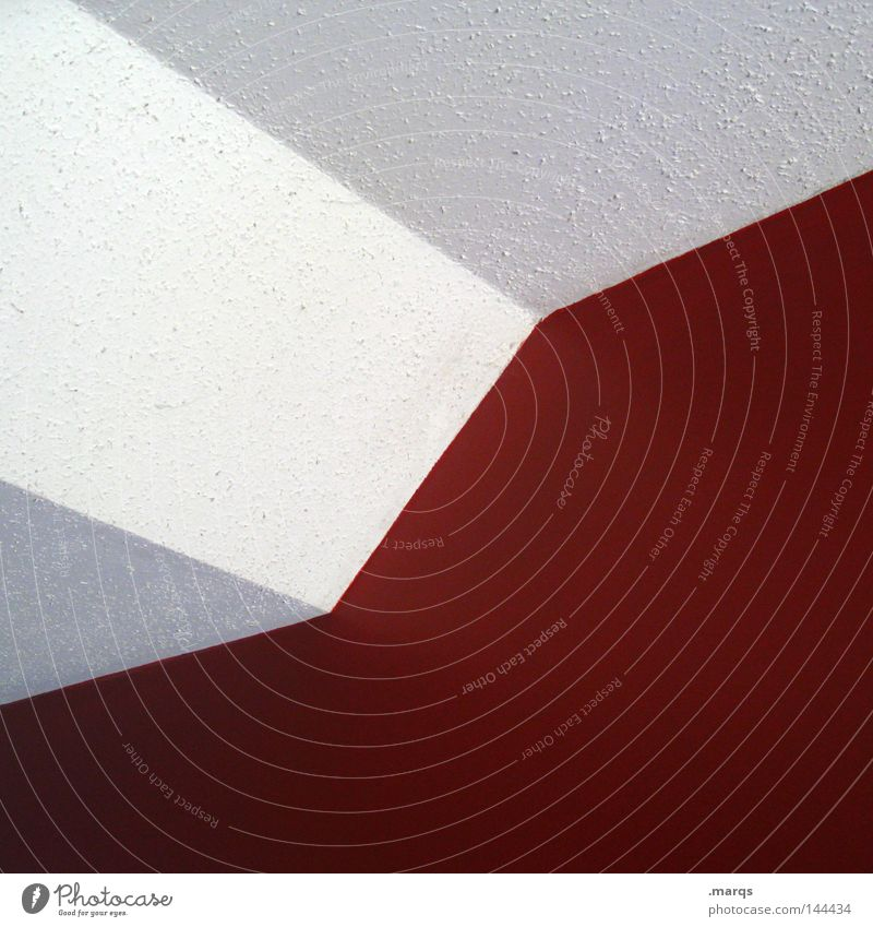White Red Wall (building) Line Architecture Corner Geometry Blanket Minimal Reduce Wallpaper Ingrain wallpaper