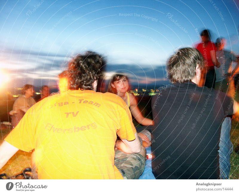 Midsummer Night's Dream I Summer Friendship Man Woman Sunset Group Evening Nature