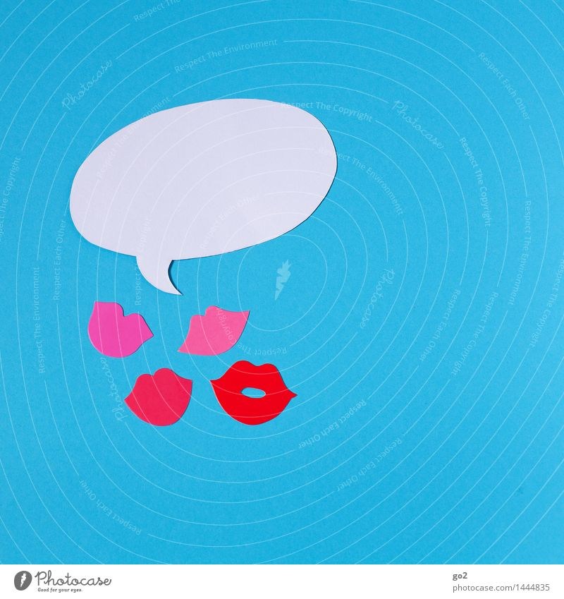 babble babble babble Night life Going out Feasts & Celebrations Flirt Carnival Birthday Mouth Lips Speech bubble Sign To talk Communicate Blue Pink White