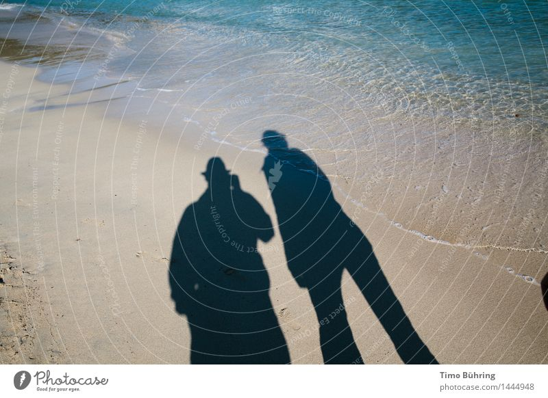 Shadow play at the sea Lifestyle Relaxation Calm Vacation & Travel Tourism Trip Adventure Far-off places Freedom Sightseeing Expedition Summer Summer vacation