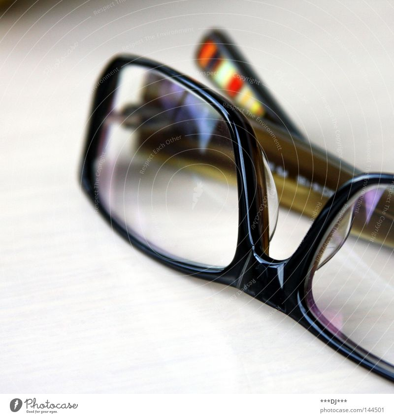 Black Glass Modern Opthalmology Eyeglasses Decoration Frame Attempt Lens Vista Framework Vision Enlarged