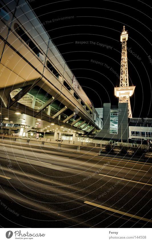 ICC Berlin Night Transmitting station Long exposure Space station Modern icc space street