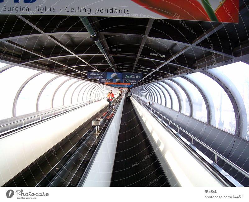 Bridge Long Tunnel Trade fair Deep Duesseldorf Visitor Wide